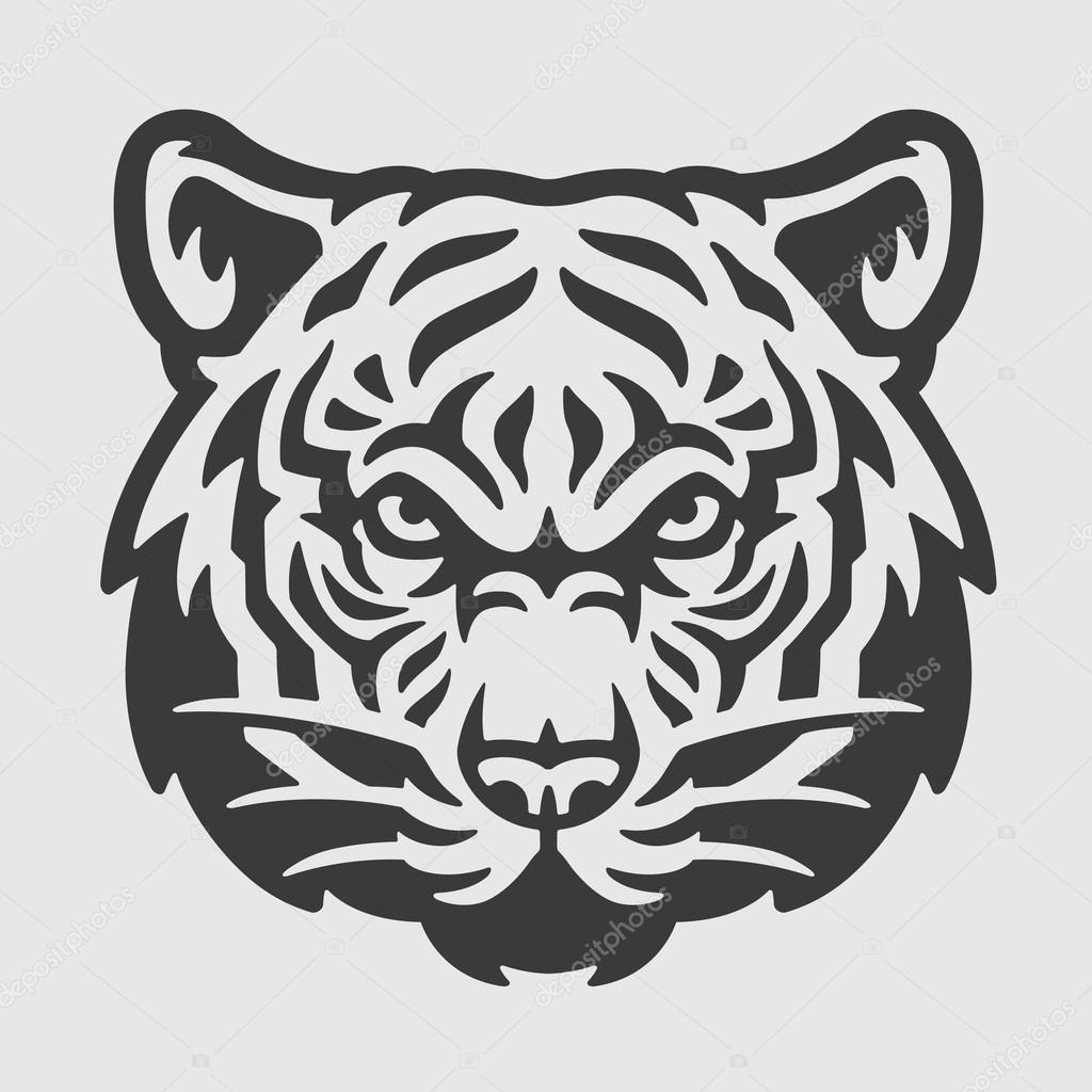 tiger head logo mascot emblem stock vector oneappleinbox 76205821 rh depositphotos com tiger head logo png lsu tiger head logo