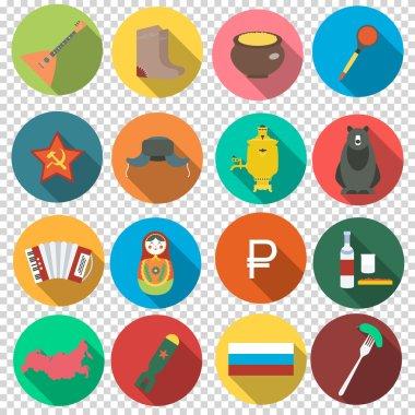 Russian set flat icons