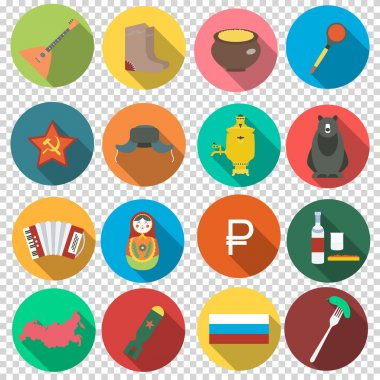 Russian set flat icons