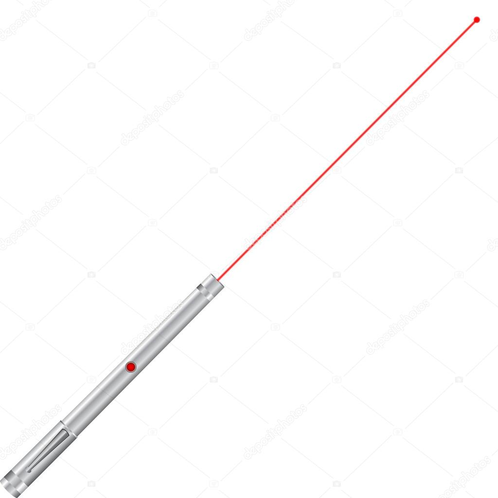 Laser pointer vector illustration.