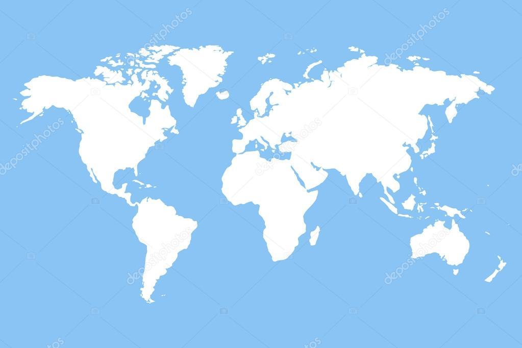 mapa do mundo em branco Mapa múndi em branco branco — Vetor de Stock © mas0380 #106014080 mapa do mundo em branco