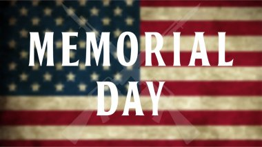 Memorial day vector background.