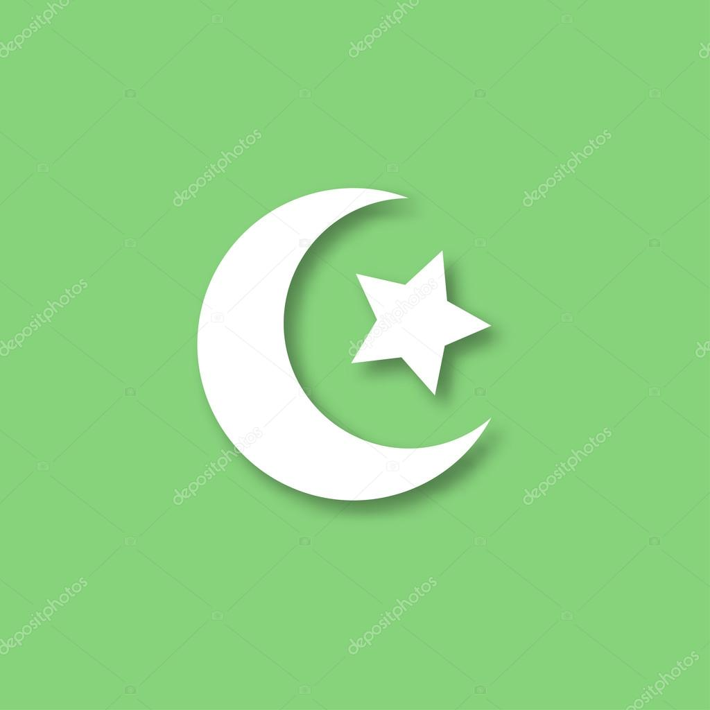 Crescent moon and star vector icon stock vector mas0380 109218068 crescent moon and star vector icon crescent islamic vector symbol with shadow crescent moon and star for ramadan crescent moon and star biocorpaavc Gallery