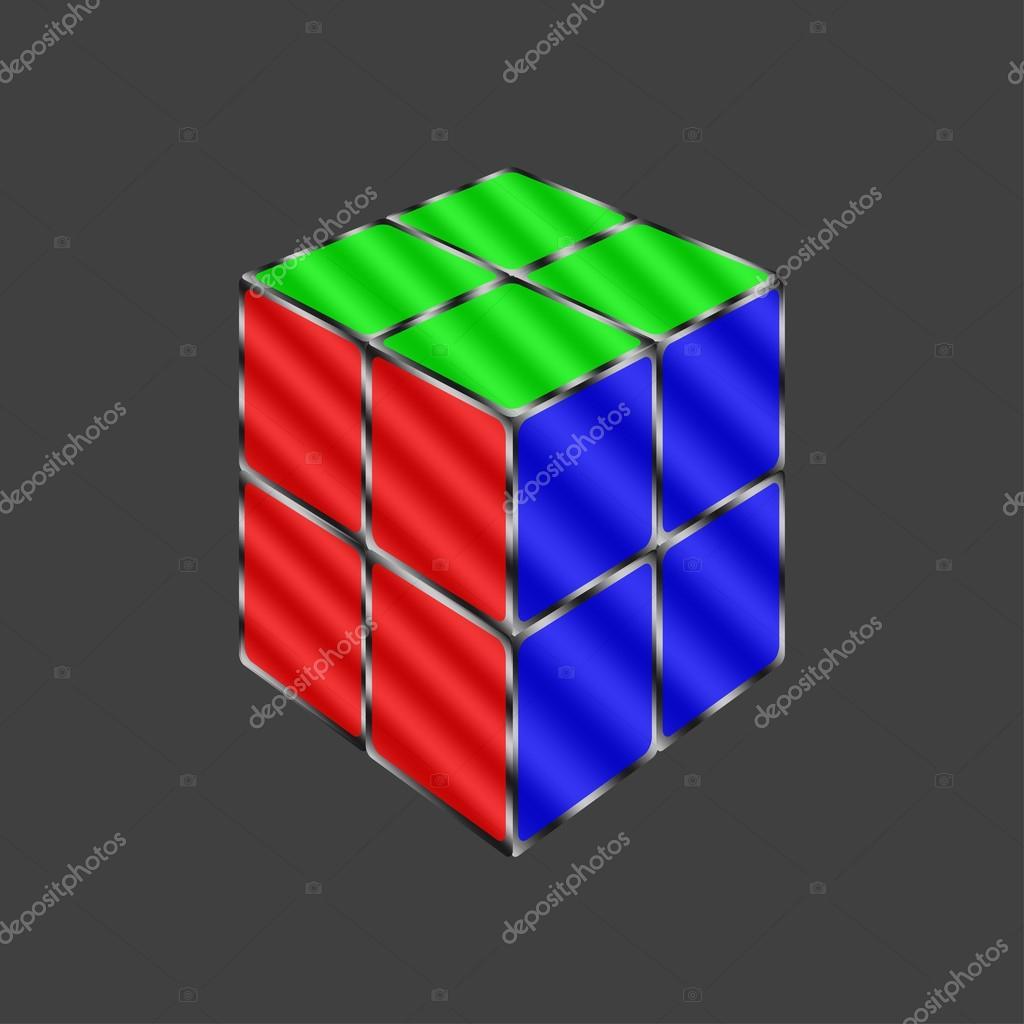 3d cube vector illustration
