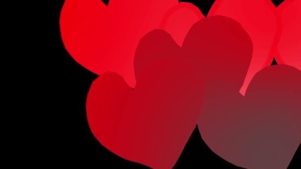 Röd Animerade Hjärtan Slår