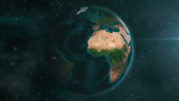 Earth zoom to Syria