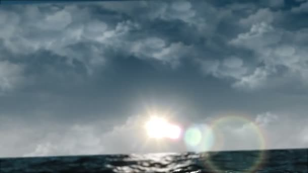 Ocean Waves with Sun and Flare