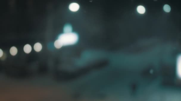 Defocused view of a city street