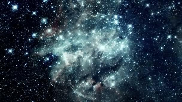 Flug durch eine Galaxie