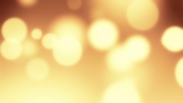 Organický pohyb pozadí s zlatý koule
