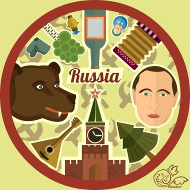 Symbols of Russia, collage.