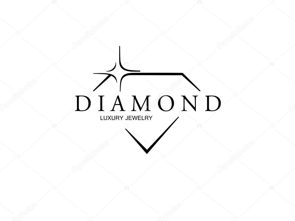 design line logo diamond isolated photo symbol vector icon brilliant stock minimal je