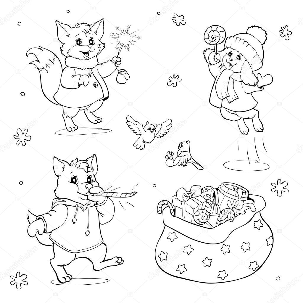 Livre De Coloriage Ou La Page Animaux De Dessin Anime Avec Des