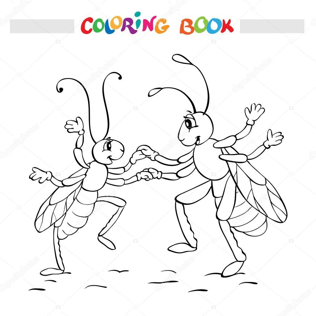 Libro para colorear o página. Dos errores de fanny es Bailar ...