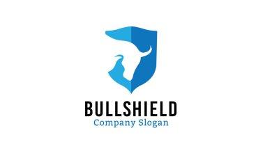 Bull Shield Design Illustration