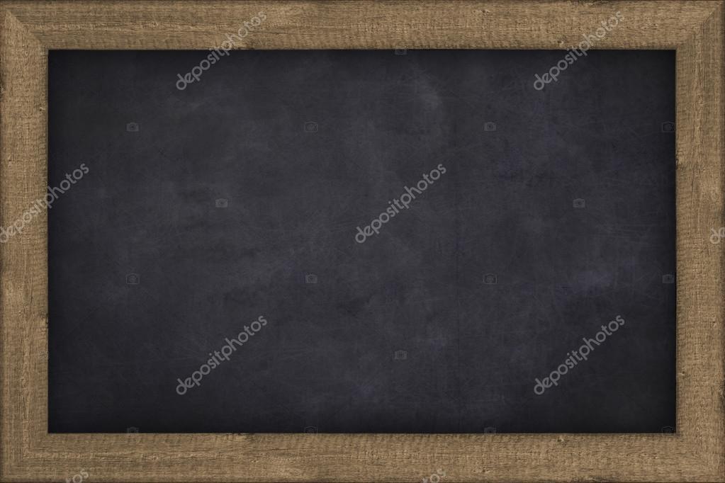 pizarra vacía, simple pizarra enmarcado, Fondo — Fotos de Stock ...