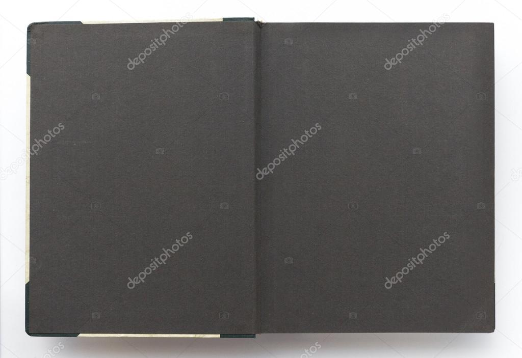 Vintage Photo Album With Blank Pages Black Paper Stock Photo