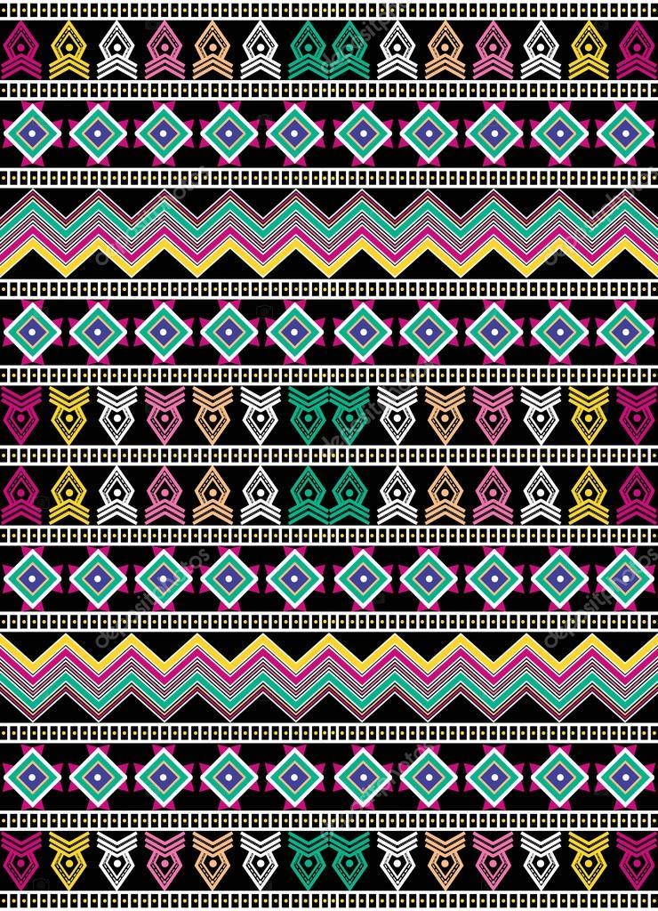 Padro de tribal tnico fundo com elementos