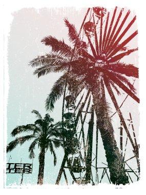 Palm trees on print
