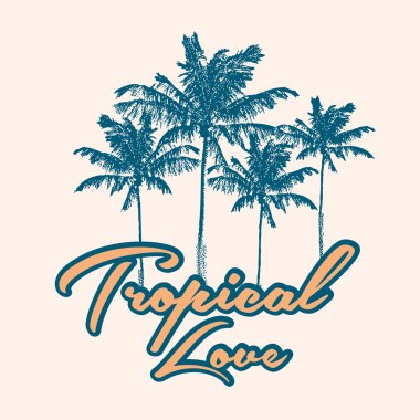 Tropical print with slogan