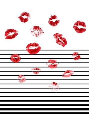 Lips with stripe pattern