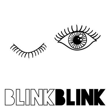 Couple of eyes blinking