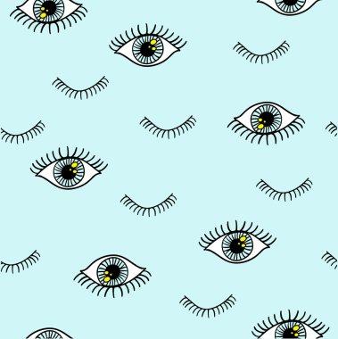 Eye pattern with eyelash