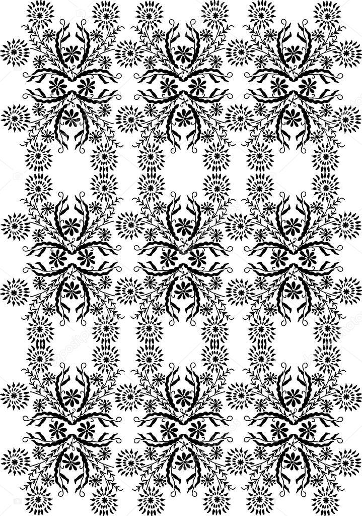 Patron para bordar, motivo floral — Vector de stock © WorkingPENS ...