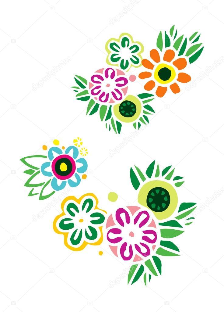9fd5f9cfa44c Estampa floral com costura — Vetores de Stock © WorkingPENS #77852304
