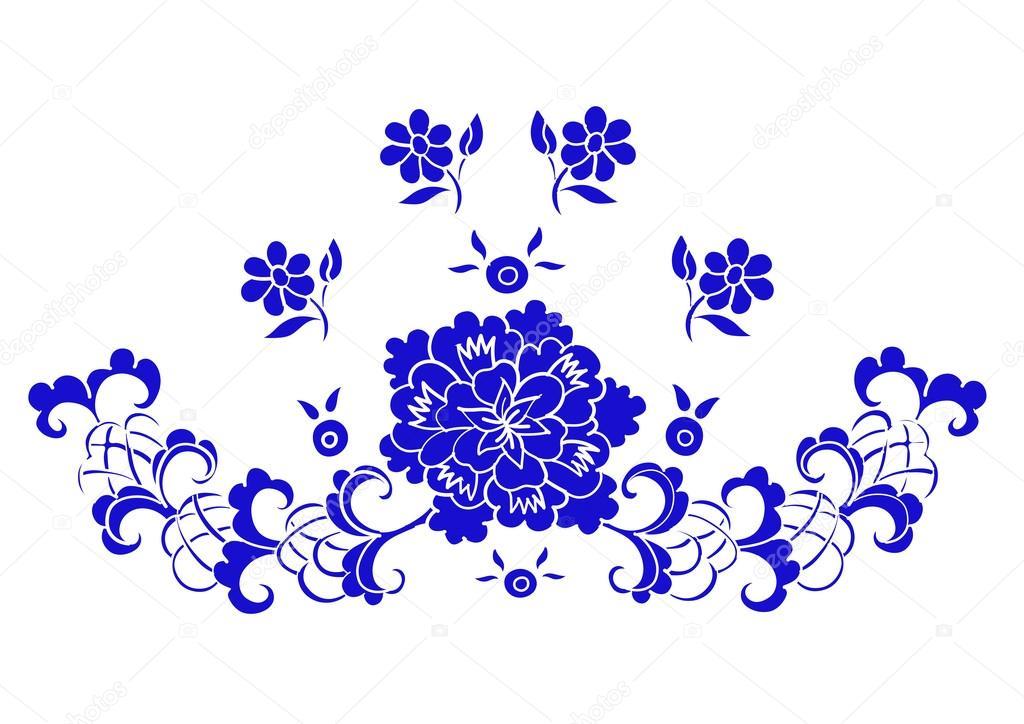 cc39814cc601 Estampa floral com costura — Vetores de Stock © WorkingPENS #77852790
