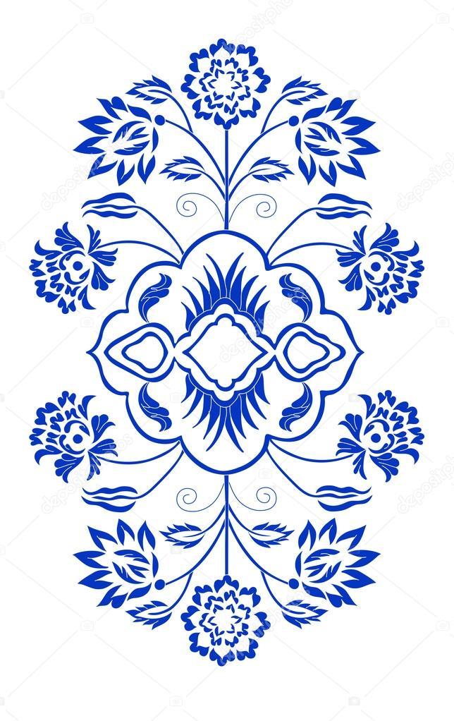 b76b165f40c2 Estampa floral com costura — Vetor de Stock © WorkingPENS #77853174