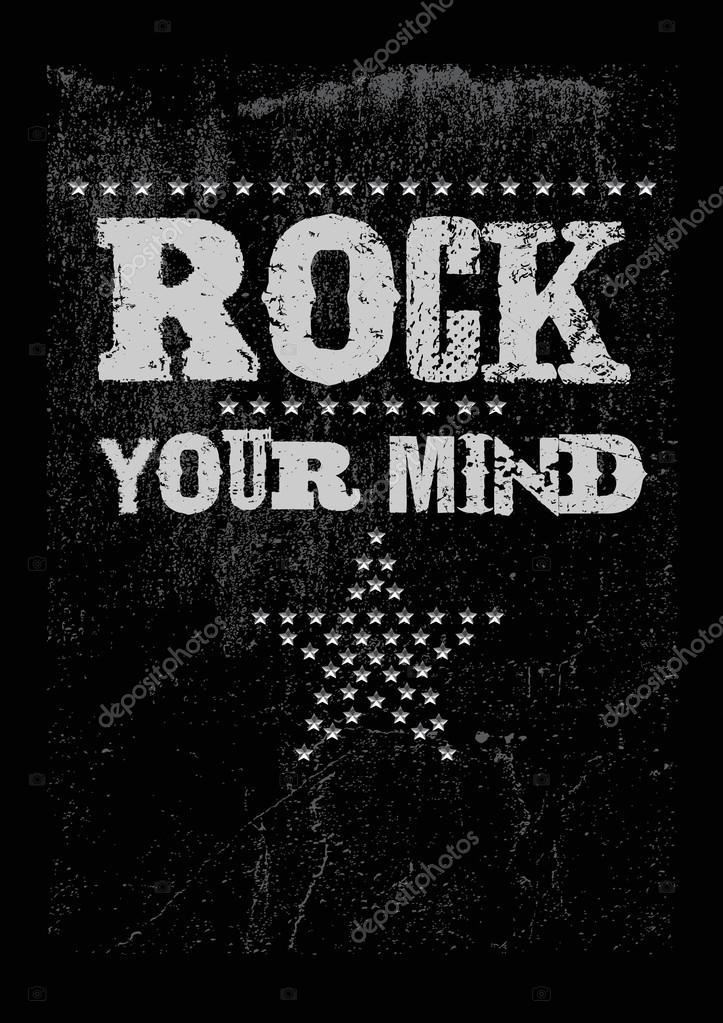 Rock print with metal studs