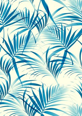 Tropical leaves pattern in vector background stock vector