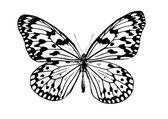 Schön, Hand gezeichneter Schmetterling