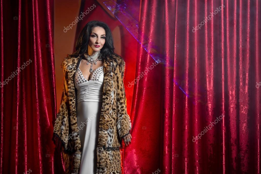 alla cappotto vestito lince sera in festa da di pelliccia e di donna fxCBwqTqU