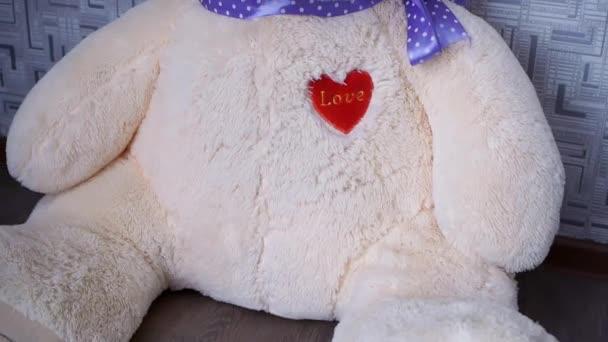 Plyšová hračka medvídek sedící u zdi 2