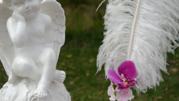 esküvő ív, dekoráció, ünnepség, angyal