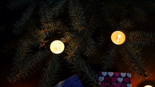 Kerstboom intro animatie met mooie decoraties en plaats voor titels ...