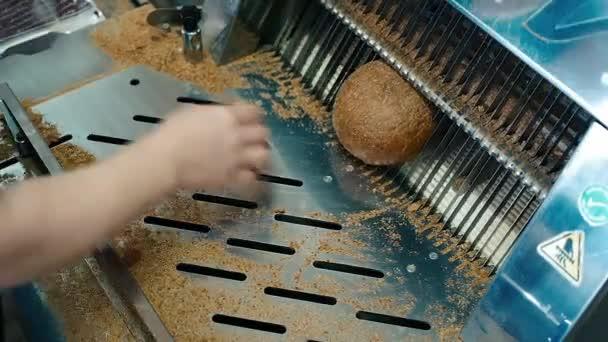 chléb pekárna potravin tovární výroby s čerstvými produkty, mouky, těsto, chléb