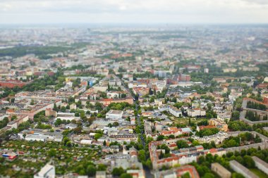 BerlinAerial view. Tilt Shift