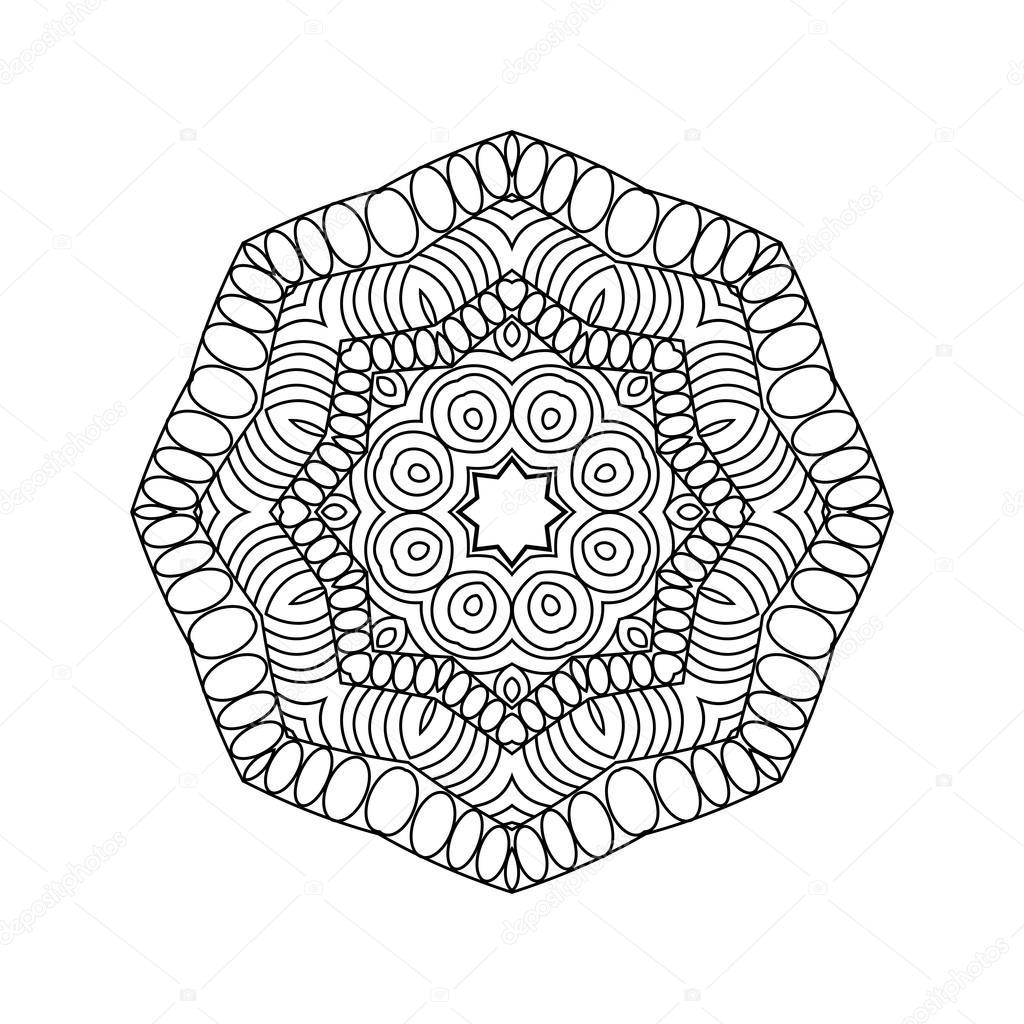 Abstrakte Runde Ornament. Mandala — Stockvektor © collibri #113426874