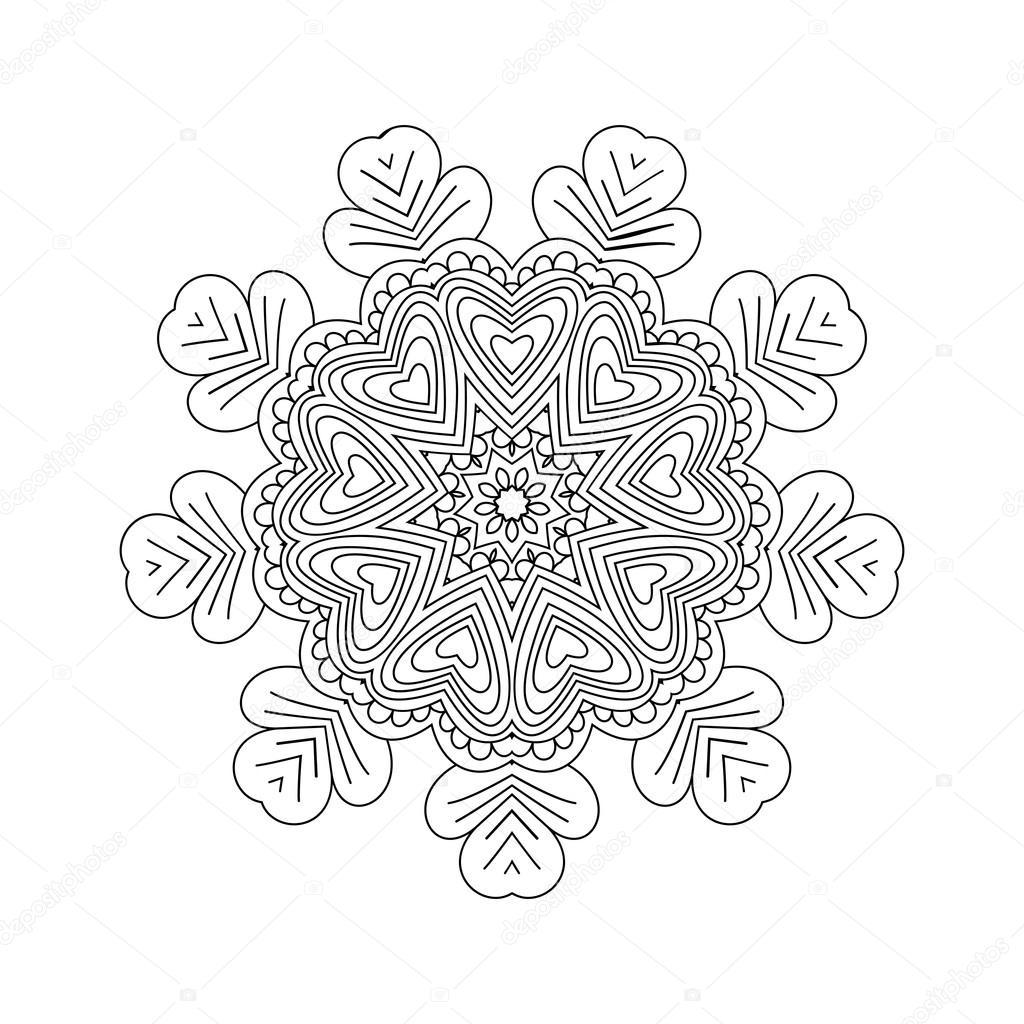 Abstrakte Runde Ornament. Mandala — Stockvektor © collibri #113427290