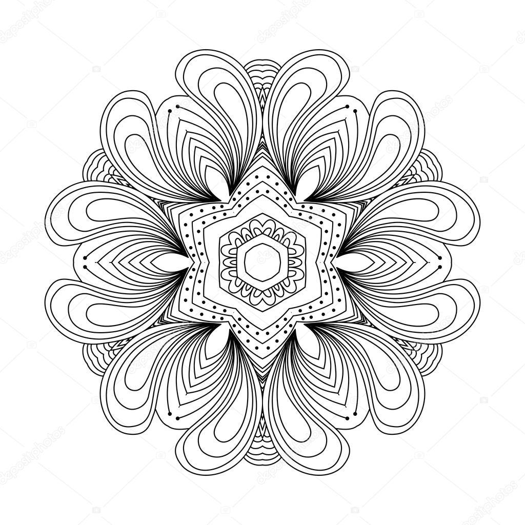 Abstrakte Runde Ornament. Mandala — Stockvektor © collibri #113428250