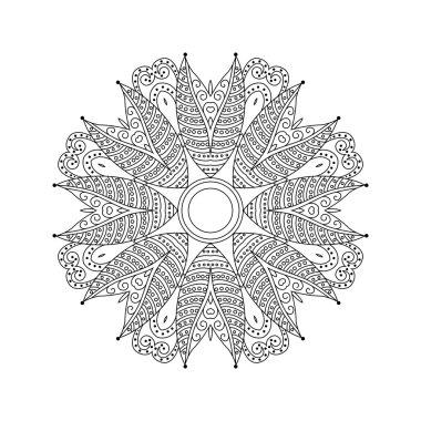 Abstract round ornament. Mandala.