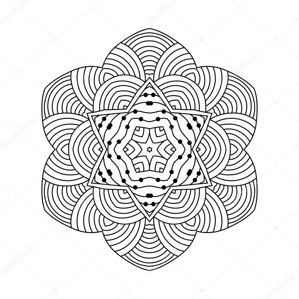 Abstrakte Runde Ornament. Mandala — Stockvektor © collibri #113430516