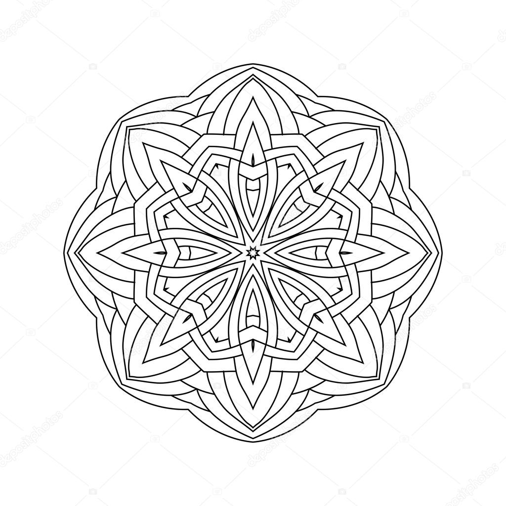 Abstrakte Runde Ornament. Mandala — Stockvektor © collibri #113431420
