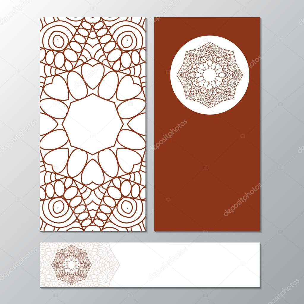 collection banner templates with mandala pattern design for fly