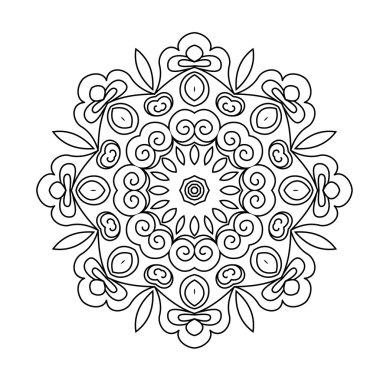 Round ornament. Mandala.