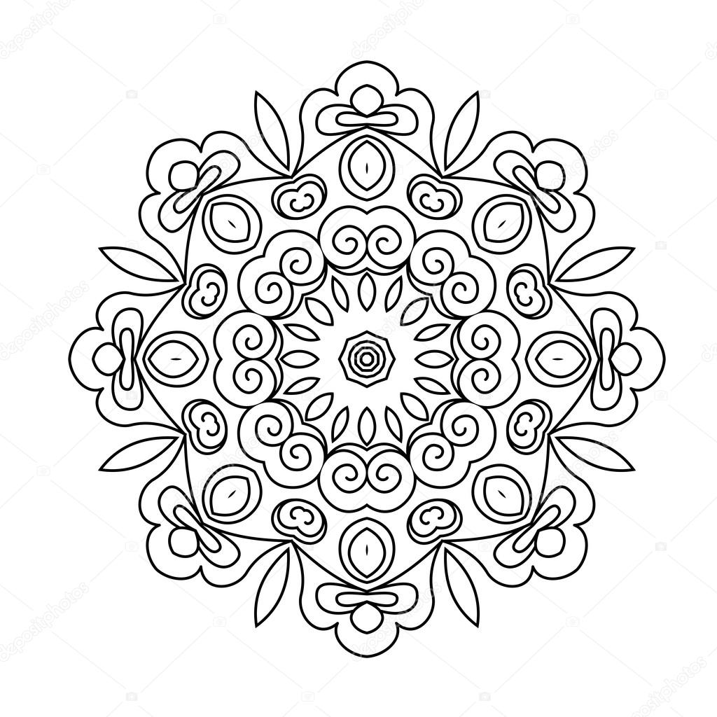 Runde Ornament. Mandala — Stockvektor © collibri #113772232