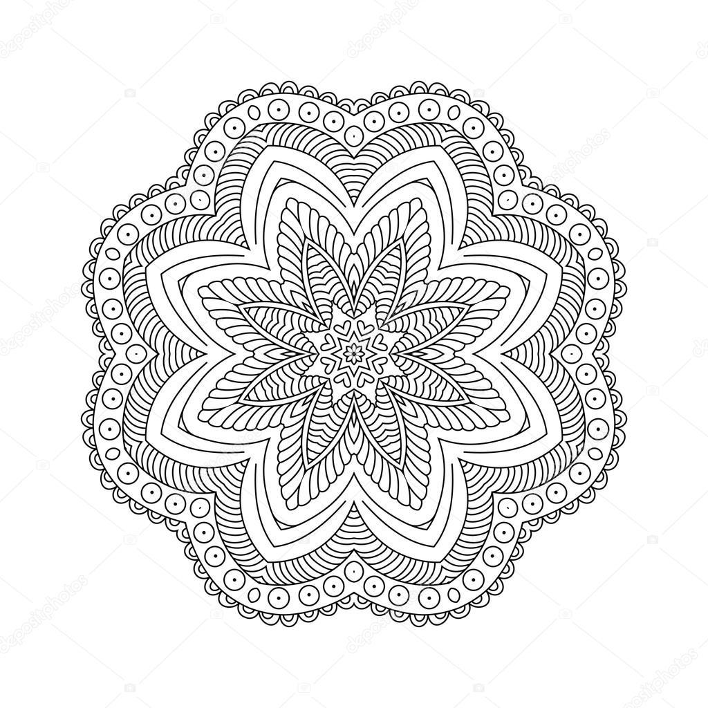Mandala. Zusammenfassung Hintergrund — Stockvektor © collibri #113772826